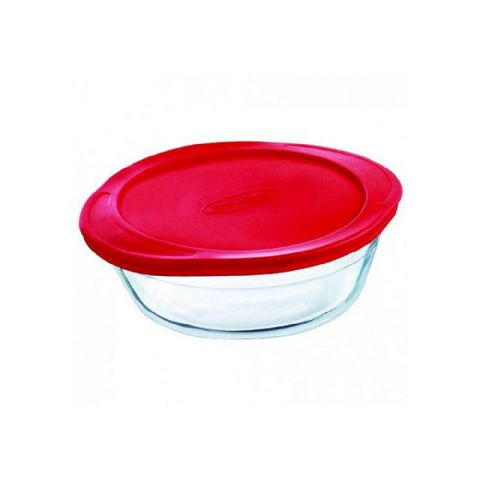 Pyrex OCuisine Round 0.35L 15cm Glass Fridge Freezer Food Box Container Oven Dish with Lid
